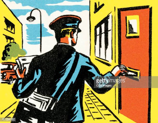 illustrations, cliparts, dessins animés et icônes de mailman - facteur