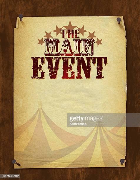 main event background - retro circus tent - run down stock illustrations, clip art, cartoons, & icons