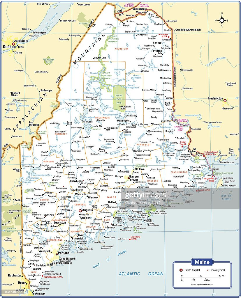 Maine State Map High-Res Vector Graphic - Getty Images