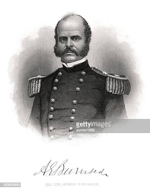 major general ambrose burnside - us military stock illustrations, clip art, cartoons, & icons