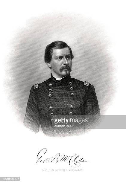 major general george b. mcclellan - us military stock illustrations, clip art, cartoons, & icons