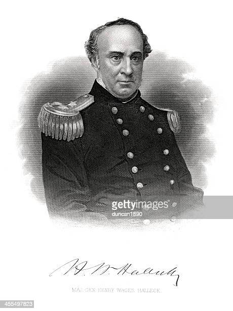 major general henry wager halleck - us military stock illustrations, clip art, cartoons, & icons