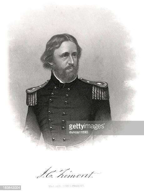 major general john charles frémont - us military stock illustrations, clip art, cartoons, & icons