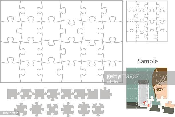 machen sie ihr eigenes puzzle - puzzle stock-grafiken, -clipart, -cartoons und -symbole