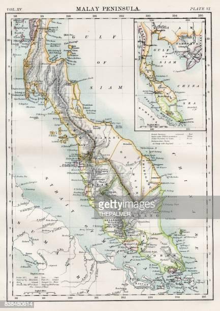 Malay peninsula map 1883
