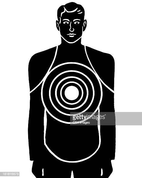 male figure target - sports target stock illustrations