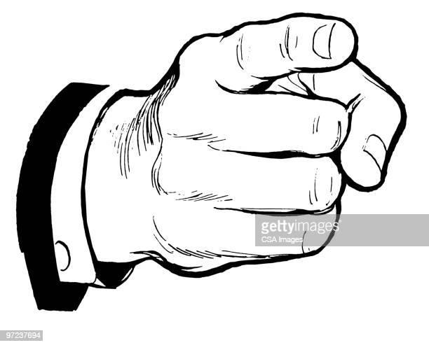 male hand pointing - zeigen stock-grafiken, -clipart, -cartoons und -symbole