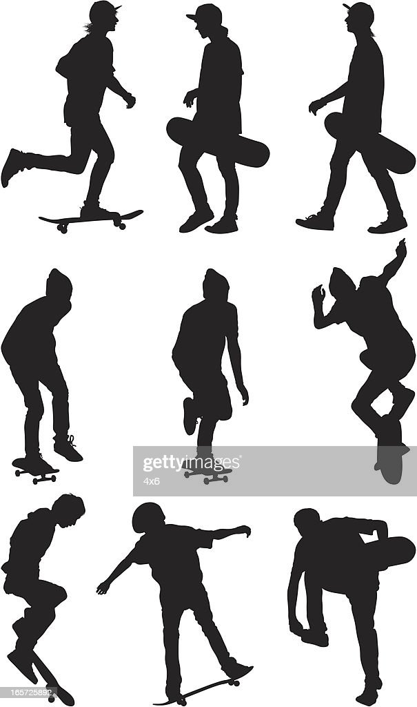 Male skate boarders : stock illustration