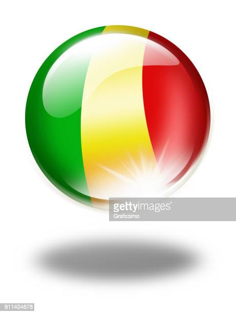 mali button with malian flag isolated on white - mali stock illustrations, clip art, cartoons, & icons