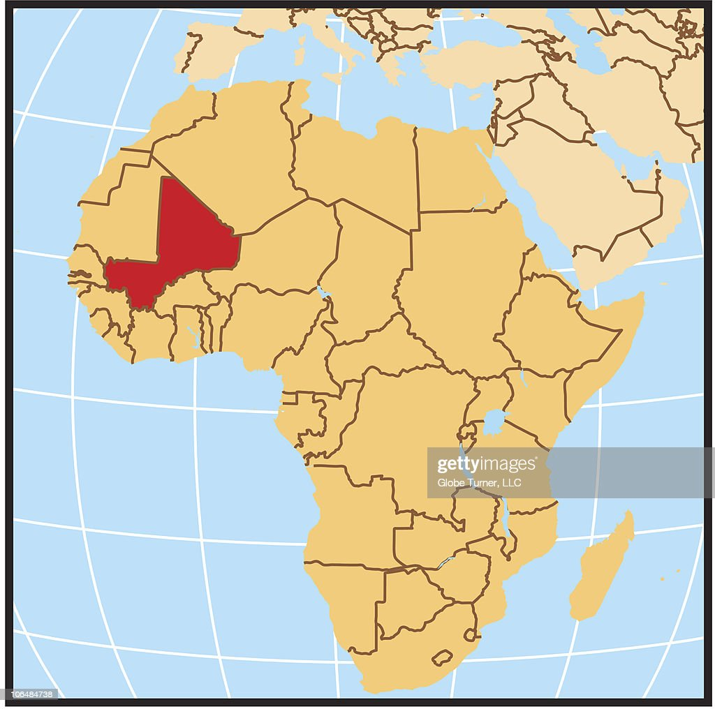 Mali Locator Map Stock-Illustration - Getty Images
