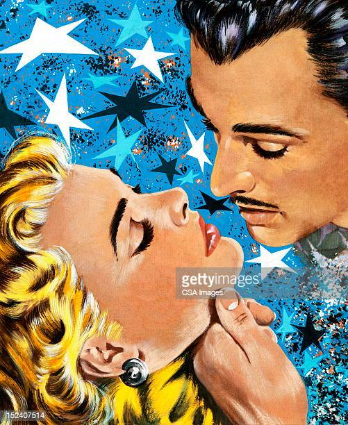 Man About To Kiss Blonde Woman