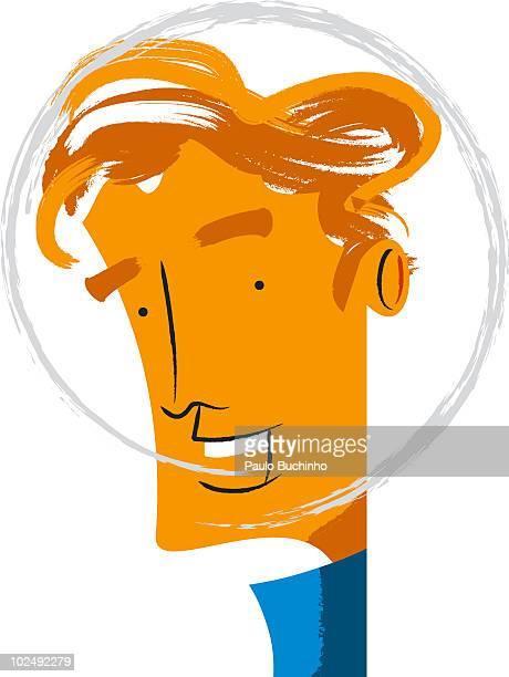 ilustrações de stock, clip art, desenhos animados e ícones de man against white background - buchinho