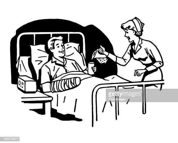 Man and Nurse in Hospital