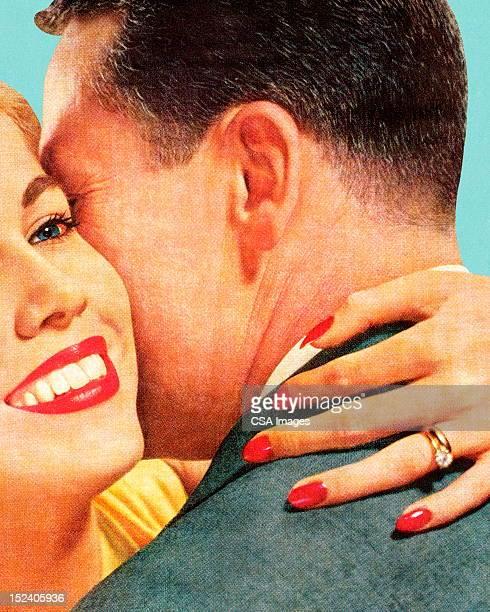man and woman hugging - beautiful woman stock illustrations