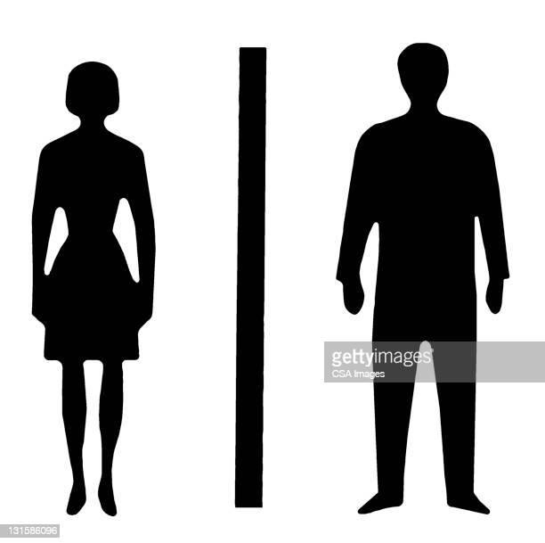 man and woman - men stock illustrations