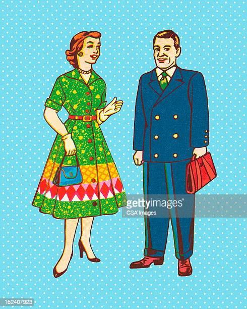 男性と女性 - 主婦業点のイラスト素材/クリップアート素材/マンガ素材/アイコン素材
