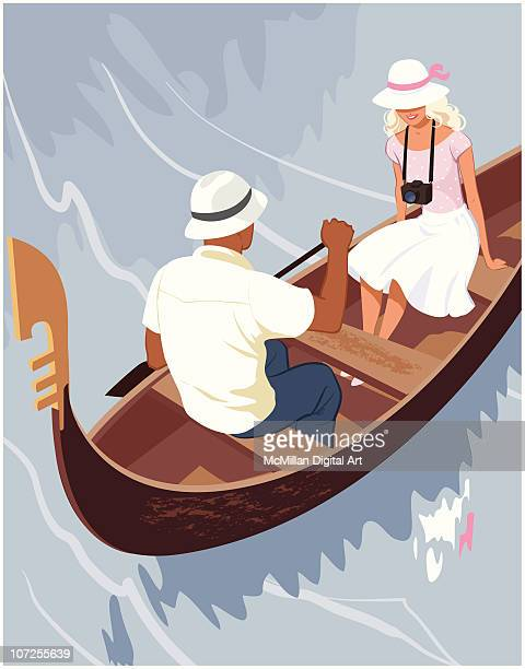 Man and woman in gondola
