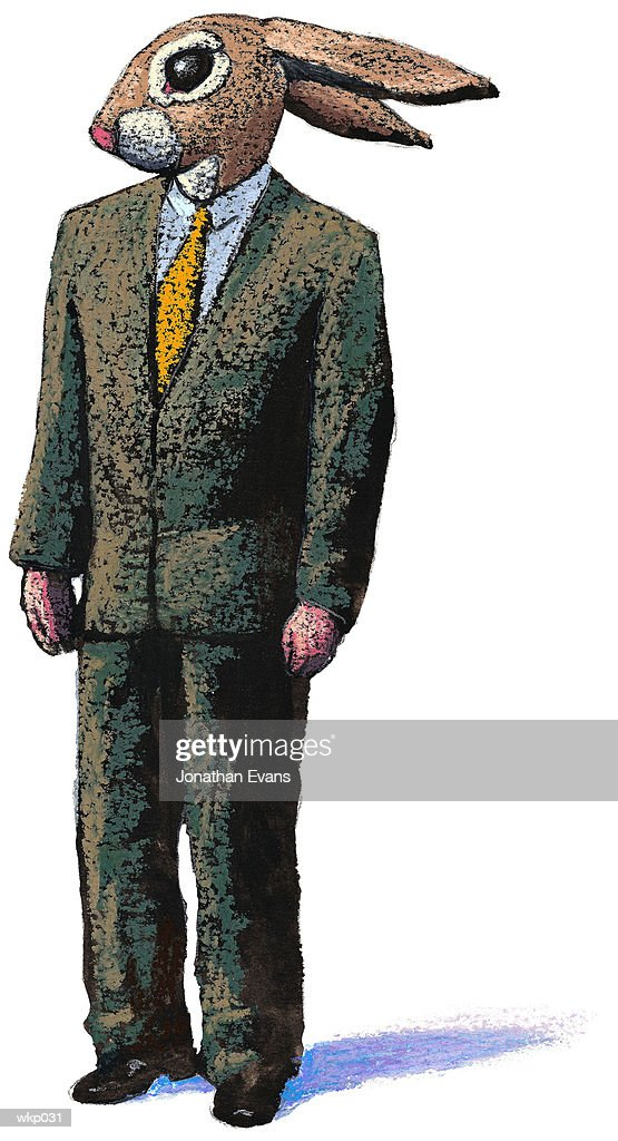 Man as Rabbit : Stock Illustration