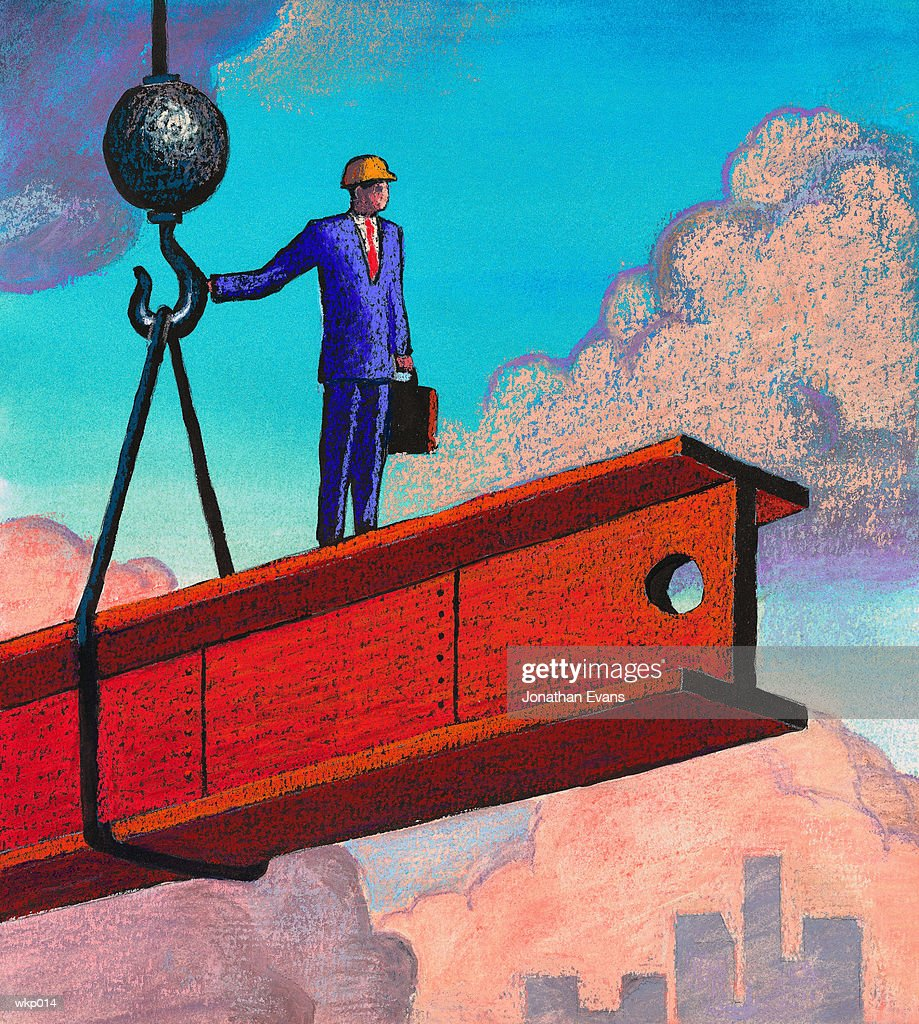 Man at Construction Site : Stock Illustration