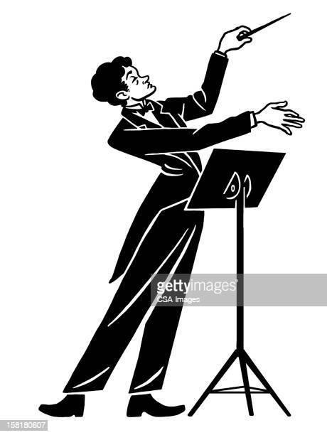 illustrations, cliparts, dessins animés et icônes de homme tenant groupe - pupitre à musique