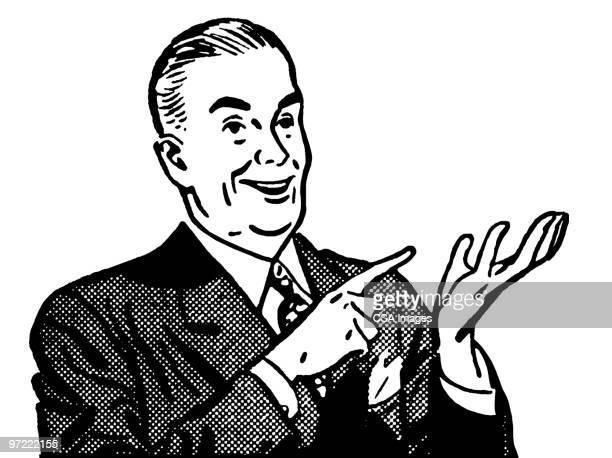 man counting - salesman stock illustrations