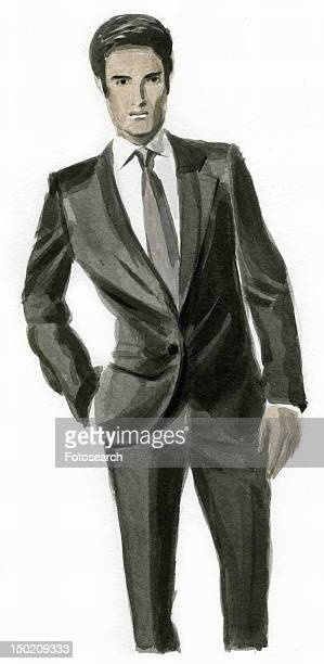 Man dressed up in a suit