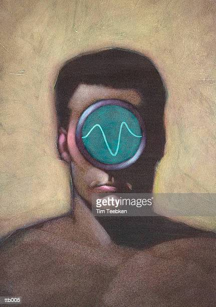 Man Equipped with Oscilloscope