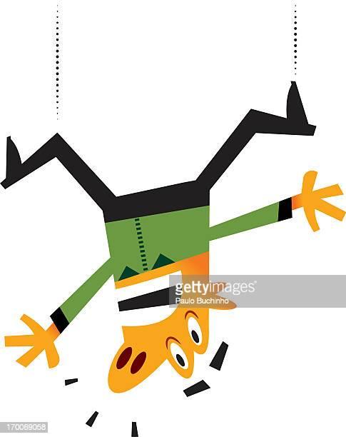 ilustrações de stock, clip art, desenhos animados e ícones de a man falling - buchinho