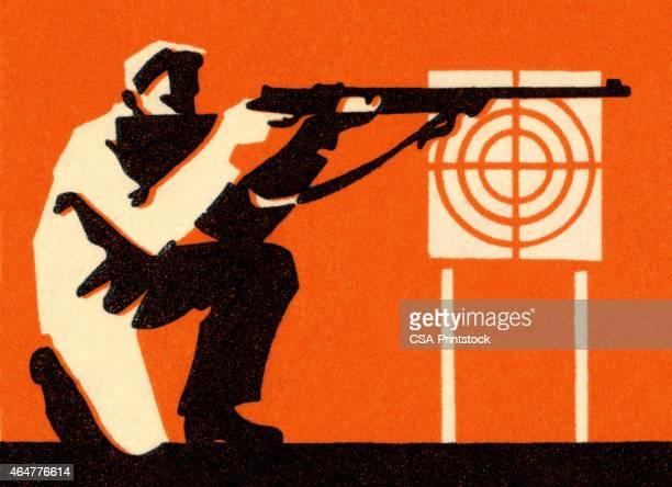 Dessin Fusil De Chasse illustrations et dessins animés de fusil de chasse | getty images