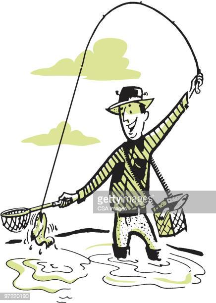 Free PNG Catching Fish Clip Art Download - PinClipart