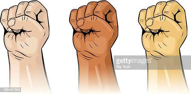 man fists - racism stock illustrations