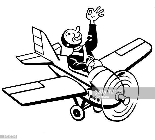 Man Flying a Small Airplane