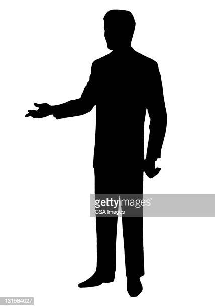 man gesturing - vertical stock illustrations