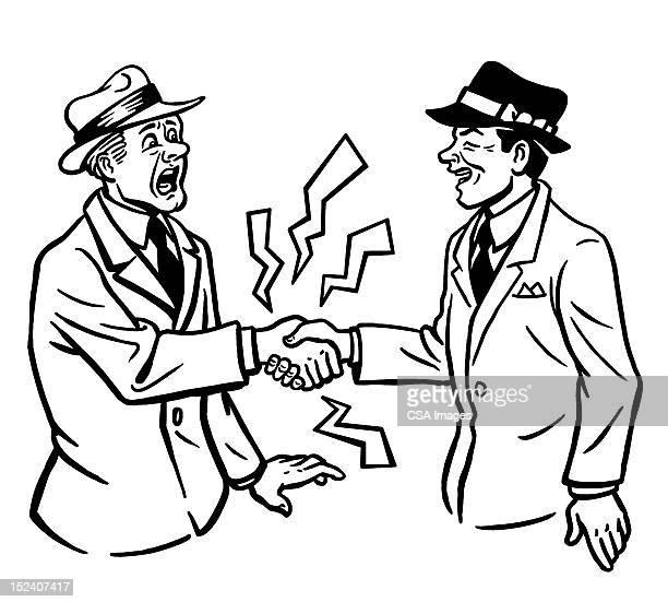 Man Giving Shocking Handshake