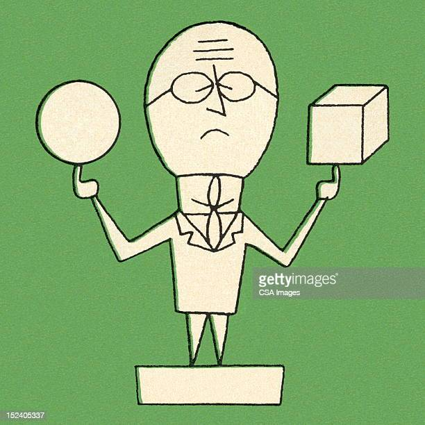 ilustraciones, imágenes clip art, dibujos animados e iconos de stock de hombre que agarra de bola y cubo - eyes closed