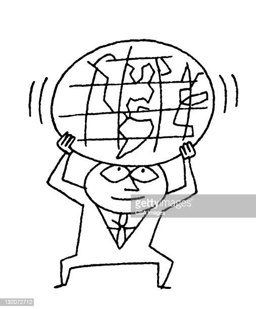 Man Holding up the World