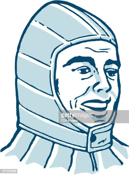 man - hood clothing stock illustrations