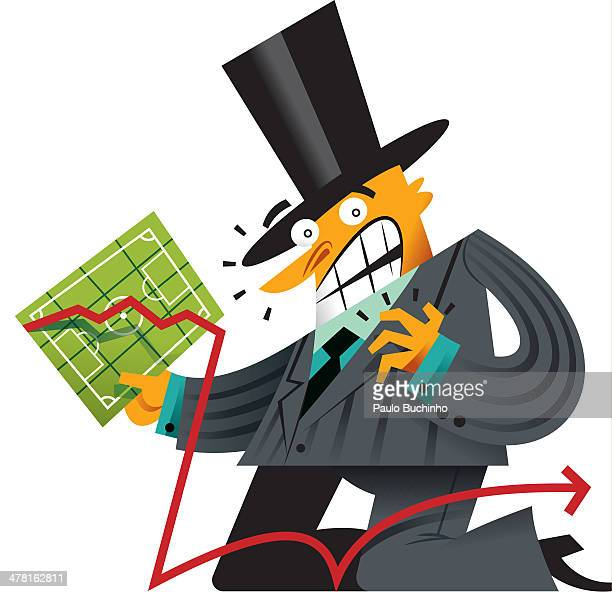 A man in a top hat carrying a chart