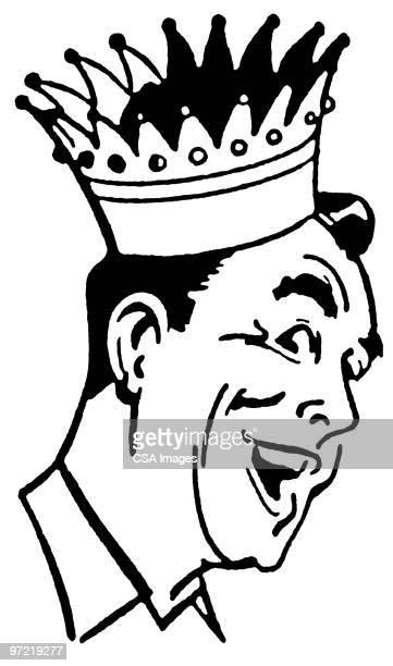 man in crown - headwear stock illustrations