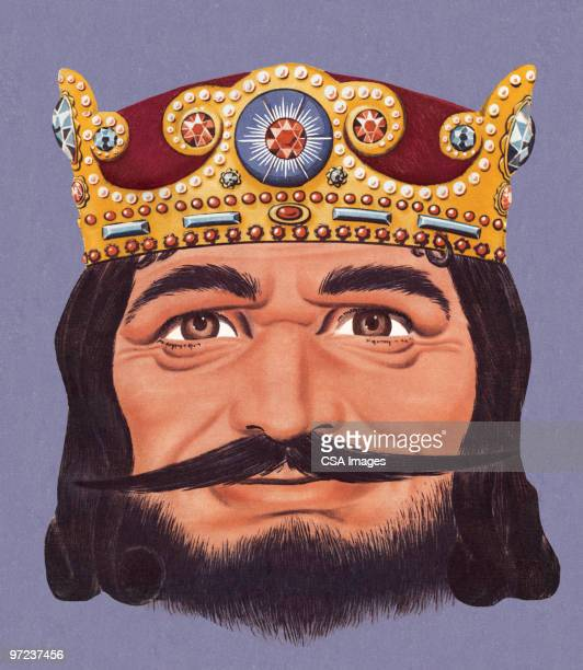 man in crown - king royal person stock illustrations, clip art, cartoons, & icons