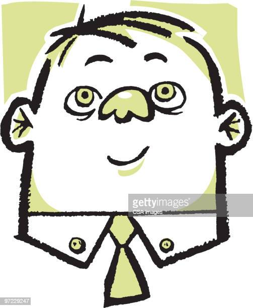 man in tie - one young man only stock illustrations
