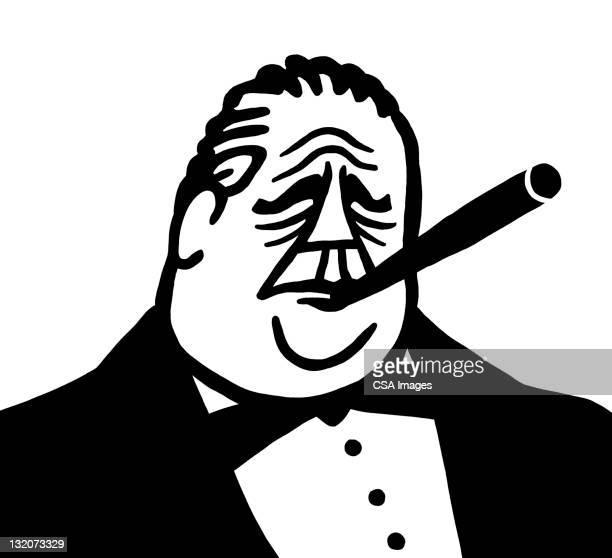 Man in Tux Smoking Cigar