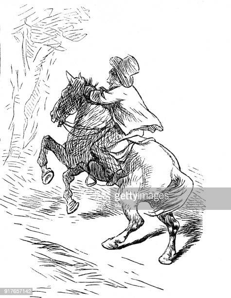 a man is riding on a horse - 1877 stock illustrations, clip art, cartoons, & icons