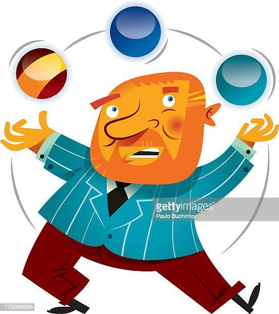ilustrações de stock, clip art, desenhos animados e ícones de a man juggling - buchinho