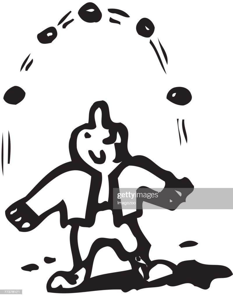 man juggling : Illustration