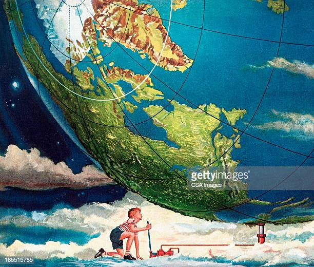 Man Lifting the Earth