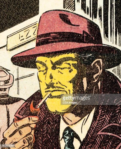 man lighting a cigarette - unhealthy living stock illustrations, clip art, cartoons, & icons