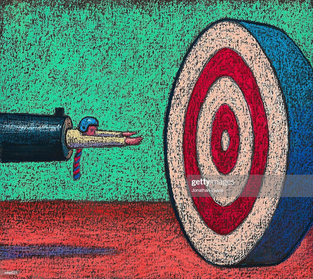 Man on Target : Stockillustraties