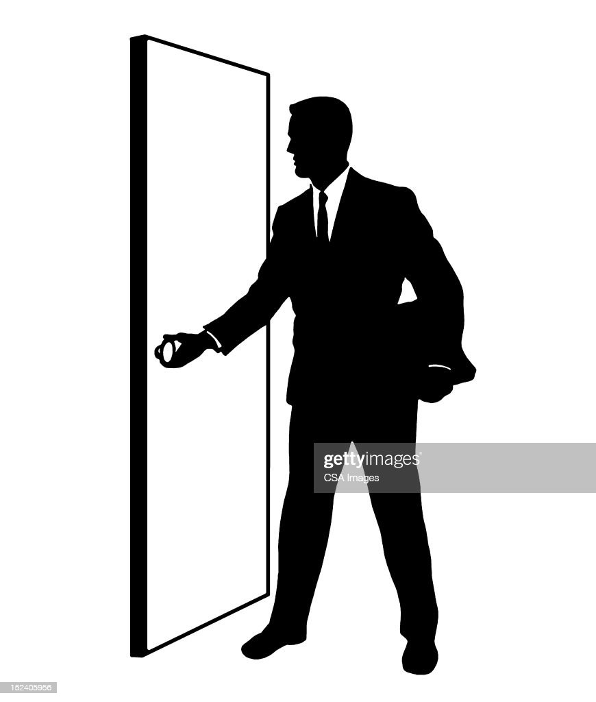 sc 1 st  Getty Images & Man Opening Door Stock Illustration | Getty Images