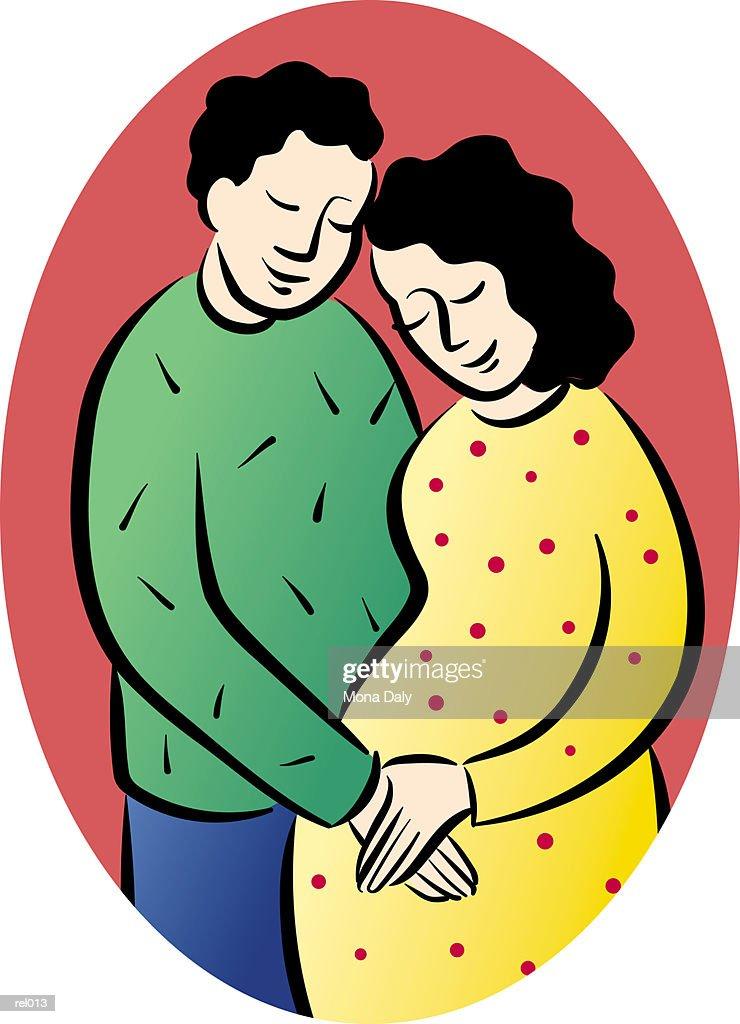 Man & Pregnant Woman : Ilustração de stock